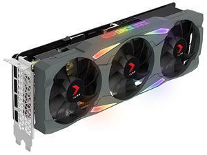 PNY GeForce RTX 3080 10GB XLR8 Gaming UPRISING EPIC-X RGB Triple Fan Graphics Card, VCG308010TFXMPB