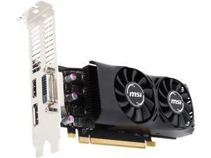 MSI GeForce GTX 1050 Ti DirectX 12 MSI-GTX1050Ti4GTLP-RFB 4GB 128-Bit GDDR5 PCI Express 3.0 x16 HDCP Ready Low Profile Video Card