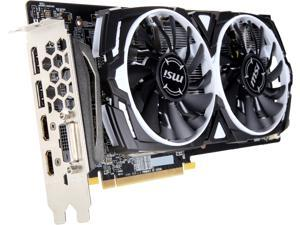 MSI Radeon RX 580 DirectX 12 RX 580 ARMOR 4G OC 4GB 256-Bit GDDR5 PCI Express x16 HDCP Ready CrossFireX Support Plug-in CardFull-height Video Card
