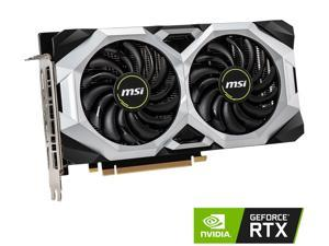 MSI GeForce RTX 2060 DirectX 12 RTX 2060 VENTUS 6G OC 6GB 192-Bit GDDR6 PCI Express 3.0 x16 HDCP Ready Video Card
