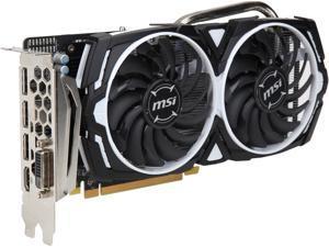 MSI Radeon RX 570 DirectX 12 RX 570 ARMOR 8G OC 8GB 256-Bit GDDR5 PCI Express x16 HDCP Ready CrossFireX Support ATX Video Card