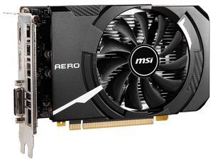 MSI GeForce GTX 1650 DirectX 12 GTX 1650 D6 AERO ITX OC 4GB 128-Bit GDDR6 PCI Express 3.0 x16 HDCP Ready ITX Video Card