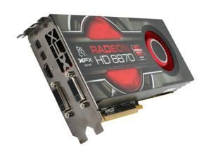 XFX Radeon HD 6870 1GB DDR5 PCI Express 2.1 x16 CrossFireX Support Video Card with Eyefinity HD-687A-ZNFC