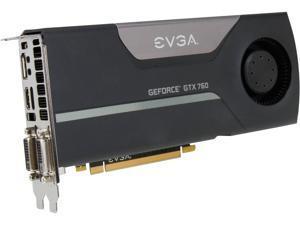 EVGA GeForce GTX 700 SuperClocked GeForce GTX 760 2GB GDDR5 PCI Express 3.0 SLI Support Video Card 02G-P4-2762-RX
