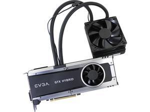 """EVGA GeForce GTX 980 Ti 06G-P4-1996-KR 6GB HYBRID GAMING, """"All in One"""" No Hassle Water Cooling, Just Plug and Play Graphics Card"""