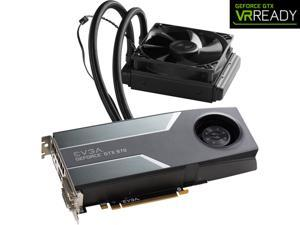 "EVGA GeForce GTX 970 04G-P4-1976-KR 4GB HYBRID GAMING, ""All in One"" No Hassle Water Cooling, Just Plug and Play Graphics Card"