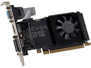 EVGA GeForce GT 730 DirectX 12 01G-P3-3730-KR 1GB 64-Bit GDDR5 PCI Express 2.0 HDCP Ready Low Profile Ready Video Card