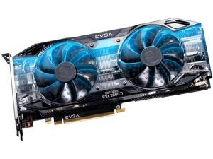 EVGA GeForce RTX 2080 Ti DirectX 12 11G-P4-2281-KR 11GB 352-Bit GDDR6 PCI Express 3.0 HDCP Ready SLI Support BLACK EDITION GAMING Video Card, Dual HDB Fans & RGB LED