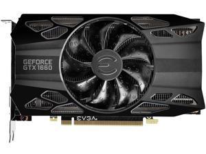 EVGA GeForce GTX 1660 BLACK GAMING Video Card, 06G-P4-1160-KR, 6GB GDDR5, Single Fan
