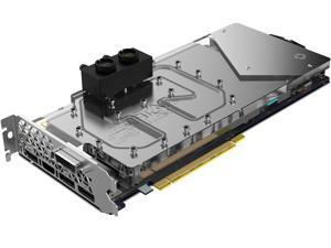 ZOTAC GeForce GTX 1080 ArcticStorm, ZT-P10800F-30P, 8GB GDDR5X ArcticStorm Liquid Cooling Waterblock, Spectra Lighting, Metal Wraparound Backplate, Direct Copper Contact, PowerBoost, G1/4 Threads