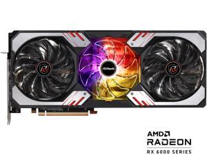 ASRock Radeon RX 6800 XT Phantom Gaming D Gaming Graphics Card with 16GB GDDR6, AMD RDNA 2 (RX6800XT PGD 16GO)