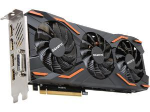GIGABYTE GeForce GTX 1080 8GB GDDR5X PCI Express 3.0 x16 SLI Support ATX Video Card GV-N1080WF3OC-8GD