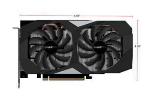 GIGABYTE Geforce RTX 2060 OC 6G Graphics Card, 2 x WINDFORCE Fans, 6GB 192-Bit GDDR6, GV-N2060OC-6GD Video Card