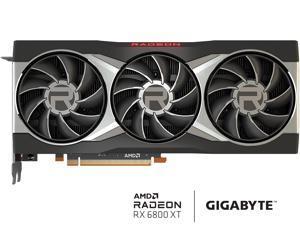 GIGABYTE Radeon RX 6800 XT DirectX 12 Ultimate GV-R68XT-16GC-B Video Card 16GB of GDDR6 Memory, Powered by AMD RDNA 2, HDMI 2.1