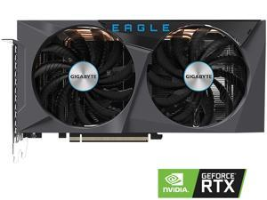 GIGABYTE GeForce RTX 3060 Ti DirectX 12 GV-N306TEAGLE-8GD 8GB 256-Bit GDDR6 PCI Express 4.0 x16 ATX Video Card