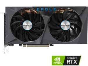 GIGABYTE GeForce RTX 3060 EAGLE OC 12G Graphics Card, 2 x WINDFORCE Fans, 12GB 192-bit GDDR6, GV-N3060EAGLE OC-12GD Video Card