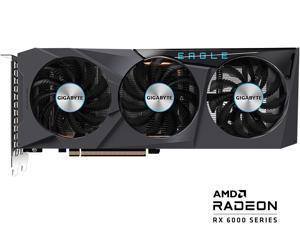 GIGABYTE Radeon RX 6600 EAGLE 8G Graphics Card, WINDFORCE 3X Cooling System, 8GB 128-bit GDDR6, GV-R66EAGLE-8GD Video Card