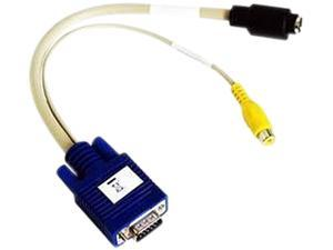 matrox TV-output adapter cable (HD15 to Composite & S-video) Model CAB-HD15-TVF