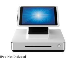 """Elo E483400 PayPoint Plus POS System for 12.9"""" iPads with Barcode Scanner, Receipt Printer, Cash Drawer, MSR & Customer Facing Display, NA/China - White"""