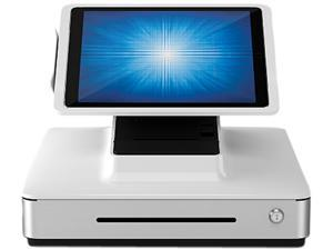 """Elo E475092 PayPoint Plus POS System for 9.7"""" iPads with Barcode Scanner, Receipt Printer, Cash Drawer, MSR & Customer Facing Display, NA/China - White"""