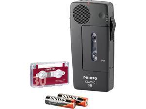 Philips LFH0388 Professional Pocket Memo Dictation Recorder, Black