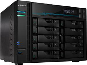 Asustor AS6510T Lockerstor 10 Enterprise 2.1GHz Quad-Core 10-Bay Diskless NAS Network Attached Storage