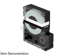 "Epson LK-4WBN LabelWorks Standard LK Tape Cartridge- 1/2"" Black on White"