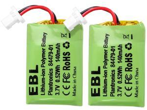 EBL 2PCS Headsets Replacement Battery 3.7v 140mAh For Plantronics CS540, 86180-01, 84479-01, CS540A, CS540, C054 Wireless Headsets Battery