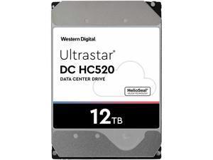 "WD Ultrastar DC HC520 12TB Hard Drive 3.5"" Internal 256MB SATA 7200 RPM 512E ISE NP3 DC HC520 0F30144"