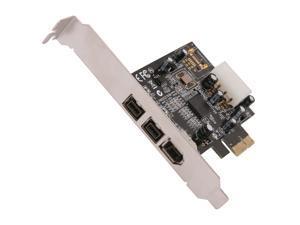 SYBA SY-PEX30016 3 Port IEEE 1394 Firewire 2x 1394B & 1x 1394A PCIe 1.1 x1 Card TI XIO2213B Chipset