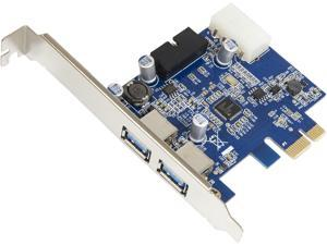 SYBA USB 3.0 PCI-e x1 2.0 Card with 2 External ports and internal 19 Pin USB 3.0 Header Model SD-PEX20139