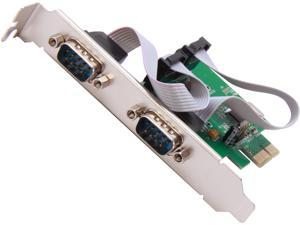SYBA SI-PEX15037 2 Serial DB9 RS-232 Ports PCI-e x1 Card with Low Profile Bracket WCH CH382