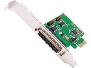 SYBA 2 Serial 1 Parallel PCI-e Controller Card with Low Profile Brackets Model SI-PEX50054