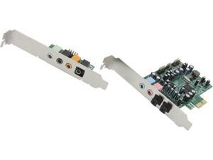 SYBA SD-PEX63081 7.1 Surround Sound, S/PDIF In/Out, Digital/Analog PCI-e Audio Card