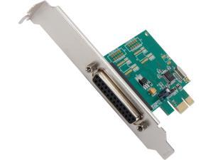 SYBA SI-PEX10010 Parallel 1 Port PCI-e Controller Card with Full & Low Profile Brackets, WCH382L Chipset