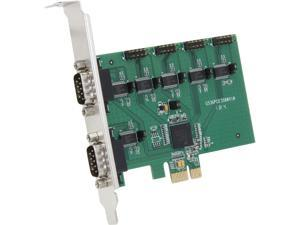 SYBA 6-Port RS-232 Serial PCI-Express, Revision 2.0; with Exar Chipset Model SI-PEX15040