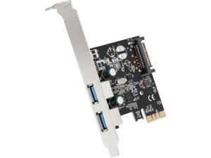 SYBA USB 3.0 PCI-E x1 Adapter Card, 2 External USB 3.0 Type A Ports, Requires SATA Power, Renesas Chipset - SD-PEX20160