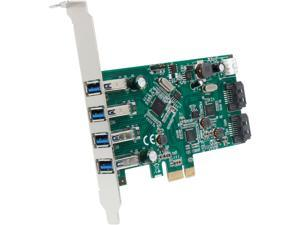 SYBA SD-PEX50064 6-port (4x USB 3.0; 2x SATAIII) PCIe x1, Revision 2.0, VLI/ASMedia Chipsets with Standard