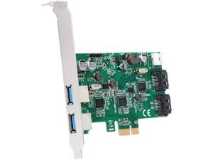SYBA SD-PEX50063 4-port (2x USB3.0; 2x SATAIII) PCIe, x4, Revision 2.0, Renesas Chipset, with Full