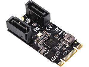SYBA SI-ADA40149 M.2 (B+M Key) 22x42 to SATA III 2 Ports Adapter Card, Jmicro JMB582 Chipset