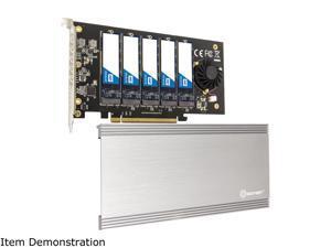 SYBA SI-PEX40142 5 Slot M.2 B-key SATA Base PCI-e 3.0 x2 Bandwidth Controller Card Require x16 Slot