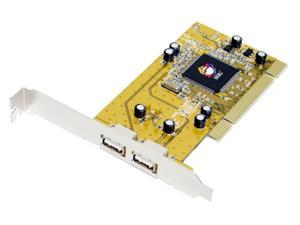 SIIG USB2.0 Dual-Port PCI Card Model JU-P20212