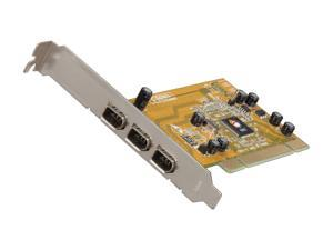 SIIG 3-Port Firewire PCI Adapter Card Model NN-400P33