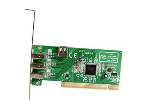StarTech.com 4 port PCI 1394a FireWire Adapter Card Model PCI1394MP