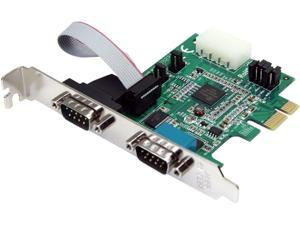 StarTech.com PEX2S952 2 Port Native PCI Express RS232 Serial Adapter Card with 16950 UART