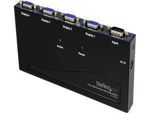 StarTech.com ST124PRO 4 Port High-Resolution 350 MHz VGA Video Splitter / Distribution Amplifier