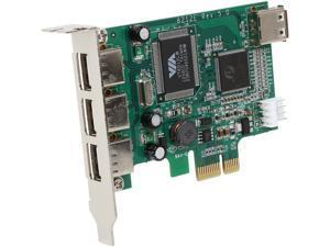 StarTech PEXUSB4DP 4 Port PCI Express Low Profile High Speed USB Card - PCIe USB 2.0 Card - PCI-E USB 2.0 Card