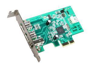 StarTech.com 3 Port 2b 1a Low Profile 1394 PCI Express FireWire Card Adapter Model PEX1394B3LP