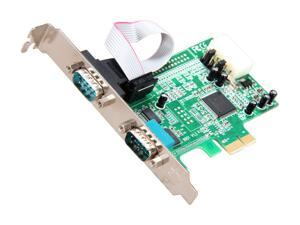 StarTech.com PEX2S553 2 Port Native PCI Express RS232 Serial Adapter Card with 16550 UART