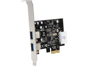 StarTech.com 2 Port PCI Express (PCIe) SuperSpeed USB 3.0 Card Adapter with UASP - LP4 Power Model PEXUSB3S25